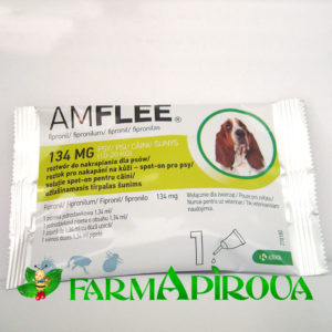 AMFLEE DOG 134 mg spot-on, M (10-20 Kg), 1 pipetă