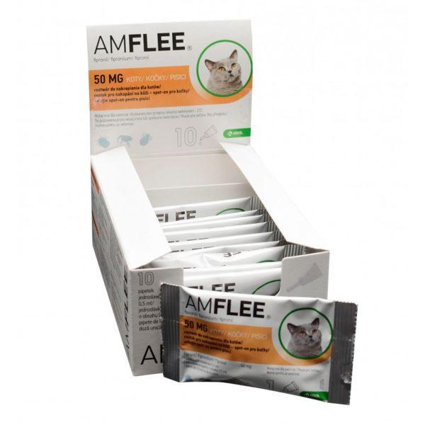 Pipeta Antiparazitara Amflee Spot-On Pisica – 1 pipetă