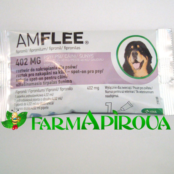 AMFLEE DOG 402 mg spot-on, XL (>40 Kg), 1 pipetă
