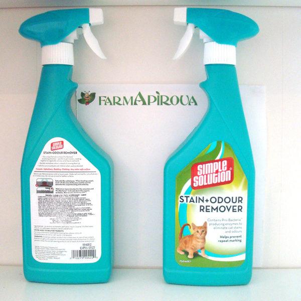 Solutie indepartare pete si mirosuri pisica, Simple Solution, 750 ml