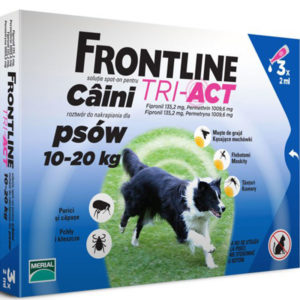 Frontline TRI-ACT M Caini 10-20Kg – 1 pipetă