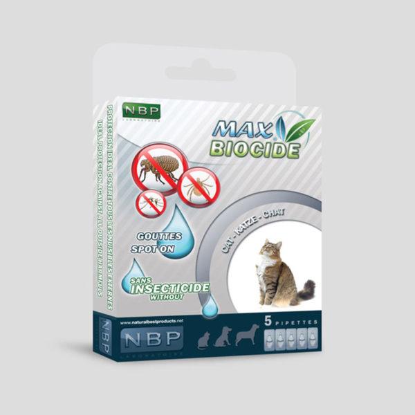 Pipetă antiparazitare bio pentru pisici NBP Max Biocide (1 buc)