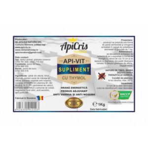 APIVIT SUPLIMENT CU TYMOL – 1 kg