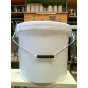 Galeata 18 litri (25 kg miere) – capac etans, alba