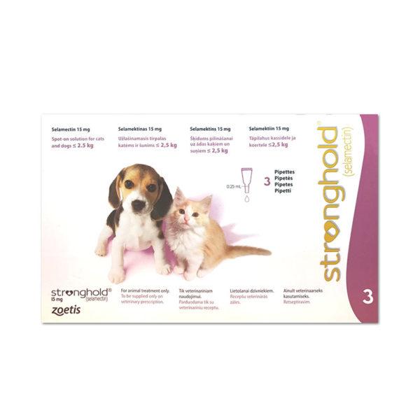 STRONGHOLD 15 mg – câini și pisici <2.5 kg